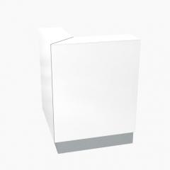Module d'angle  L. 82,2 x P. 82,2 x H. 110,5cm - Linea - MDD - LN91