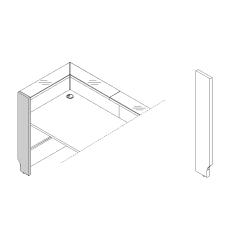 Pied gauche haut L. 25,4 x P. 2,8 x H. 110,5cm - LINEA - MDD - LN3L