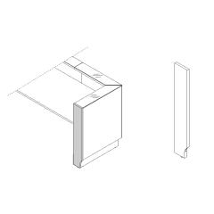Pied droite haut L. 25,4 x P. 2,8 x H. 110,5cm - LINEA - MDD - LN3P