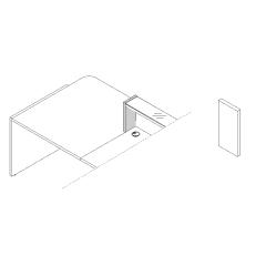 Joue de finition gauche L. 25,4 x P. 2,8 x H. 36,7cm - LINEA - MDD - LN4L
