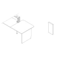 Joue de finition droite L. 25,4 x P. 2,8 x H. 36,7cm - LINEA - MDD - LN4P