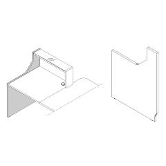 Finition gauche haut L. 82,4 x P. 2,8 x H. 110,5cm - LINEA - MDD - LN5L