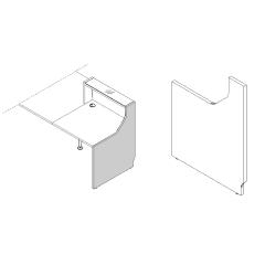 Finition droite haut L. 82,4 x P. 2,8 x H. 110,5cm - LINEA - MDD - LN5P