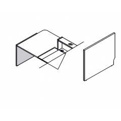 Pied bas gauche L. 82,4 x P. 2,8 x H. 74cm - LINEA - MDD - LN6L