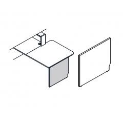 Pied bas droite L. 82,4 x P. 2,8 x H. 74cm - LINEA - MDD - LN6P