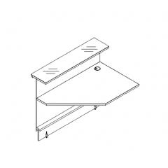 Elément d'angle L. 129 X p. 91,7 X h. 110,5cm - VALDE - MDD - LAP13L