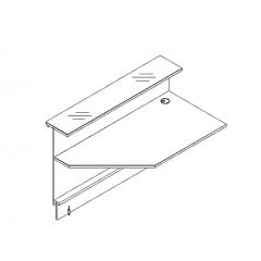 Elément linéaire L. 159 X p. 91,7 X h. 110,5cm - VALDE - MDD - LAP16L