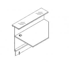 Elément d'angle L. 129 X p. 91,7 X h. 110,5cm - VALDE - MDD - LAL13L