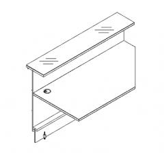 Elément linéaire L. 229 X p. 91,7 X h. 110,5cm - VALDE - MDD - LAL23L