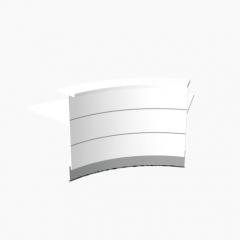 Angle 60° extérieur L. 221,6 x P. 91,7 x H. 110,5cm - VALDE - MDD - LAV62L