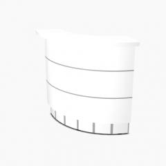 Angle 90° intérieur L. 129,7 x P. 91,7 x H. 110,5cm - VALDE - MDD - LAV70L