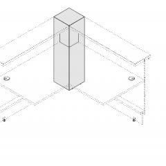Poteau de liaison L. 30 x P. 30 x H. 110,5cm - VALDE - MDD - LA100