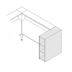 Monobloc à étagères L. 31,8 x P. 91,7 x H. 110,5cm - VALDE - MDD - LAP10