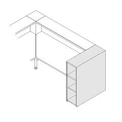 Monobloc à étagères L. 31,8 x P. 91,7 x H. 110,5cm - VALDE - MDD - LAL10