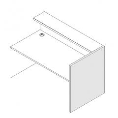 Finition droite haut L. 91,7 x P. 3,8 x H. 110,5cm  - VALDE - MDD - LAN1P