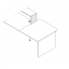 Joue de finition droite L. 30 x P. 3,8 x H. 36,4cm - VALDE - MDD - LAN3P