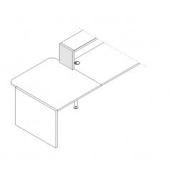Joue de finition gauche L. 30 x P. 3,8 x H. 36,4cm  - VALDE - MDD - LAN4L
