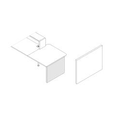 Finition basse droite L. 91,7 x P. 3,8 x H. 74cm - VALDE - MDD - LAN5P