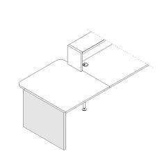 Finition basse gauche L. 91,7 x P. 3,8 x H. 74cm - VALDE - MDD - LAN6L
