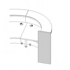 Pied droit pour élément LAV70L - VALDE - MDD  - LAN7P