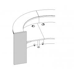 Pied gauche pour élément LAV70L - VALDE - MDD - LAN8L