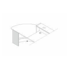 Pied gauche bas L. 37,4 x P. 3,8 x H. 74cm - VALDE - MDD - LAN9L