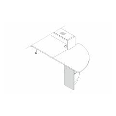 Pied droite bas L. 37,4 x P. 3,8 x H. 74cm - VALDE - MDD - LAN9P
