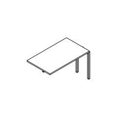 L. 120 x P. 70 x H. 74cm, extension - OGI Y - MDD - BOX32