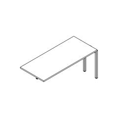 L. 160 x P. 70 x H. 74cm, extension - OGI Y - MDD - BOX36