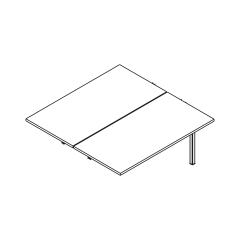L. 140 x P. 141 x H. 74cm, suivant - OGI Y - MDD - BOX54
