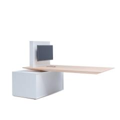 Table électrique mutimedia - L. 220 x P. 110 x H. 75-115,6cm - GAV10