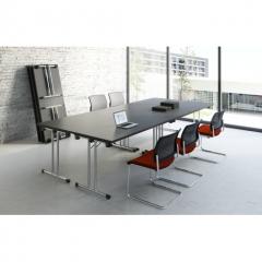 Table pliante L. 139 x P. 69,5 x H. 72,5cm - Table pliable - MDD - PSU07