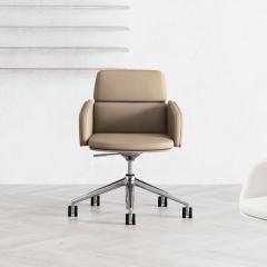 Chaise de réunion et de direction en cuir - Lead - 141 094 - Las Mobili