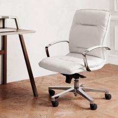 Chaise de réuion et de travail Formen en cuir - Las Mobili