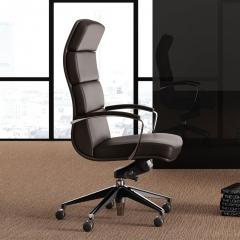 Chaise de bureau Scena en cuir - Las Mobili - 140 261