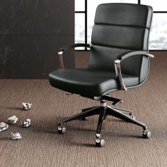 Scena - Chaise de direction en cuir - Las Mobili - moyen dossier