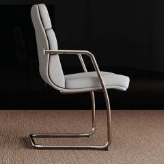 Scena - Chaise conférence cuir avec piétement luge - Las Mobili