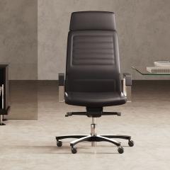 Neochair - chaise de direction en cuir - Las Mobili - haut dossier