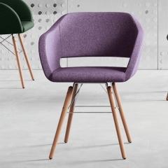 Regia - Fauteuil design - pied bois massif