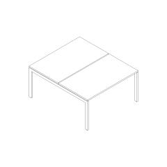 Ogi U bench, L. 140 x P. 141 x H. 74cm