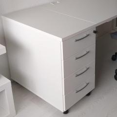 Caisson de bureau fixe avec 2 tiroirs et 1 dossiers suspendus - KDT73