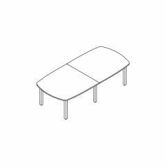 Table L. 280 x P. 130 x H. 74cm - MDD - BUN25