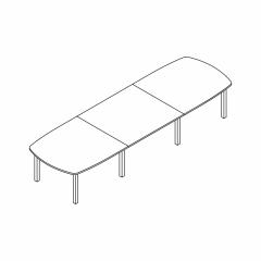 Table  L. 420 x P. 130 x H. 74cm - MDD - BUN26