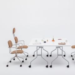 Table abattante L. 139 x P. 69,5 x H. 74cm - Table abattante - MDD - PFT01