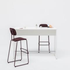 Table haute L. 180 x P. 50 x H. 110cm - MDD - PSW58