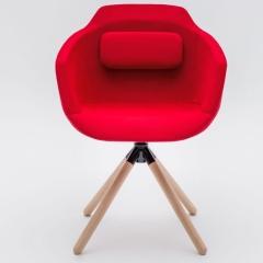 Chaise réuion - pieds bois massif - pivotant - UFP9 - MDD