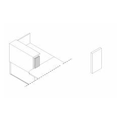 Joue de finition gauche L. 18,2 x P. 2,8 x H. 35cm
