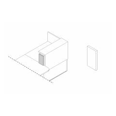 Joue de finition droite L. 18,2 x P. 2,8 x H. 35cm