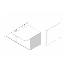 Pied bas gauche L. 82 x P. 2,8 x H. 74cm