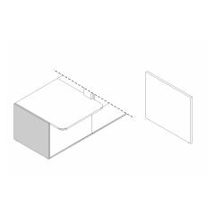 Pied bas droite L. 82 x P. 2,8 x H. 74cm